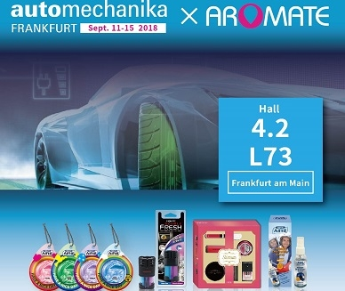 Visit AROMATE at 2018 automechanika