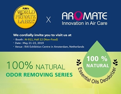 Visit AROMATE at 2019 PLMA - 100% Natural Odor Removing Series