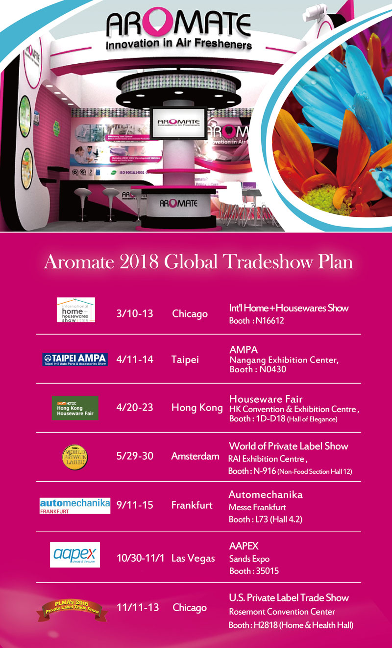 2018 Global Tradeshows