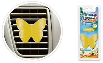 HF22 Butterfly Scented Polymer Vent Clip